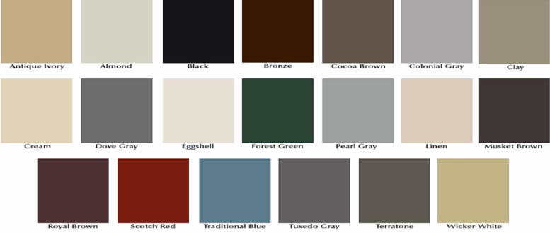 Gutter Color Choices Options Md Dc Va Homefix