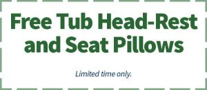 Free Tub Head-Rest and Seat Pillows