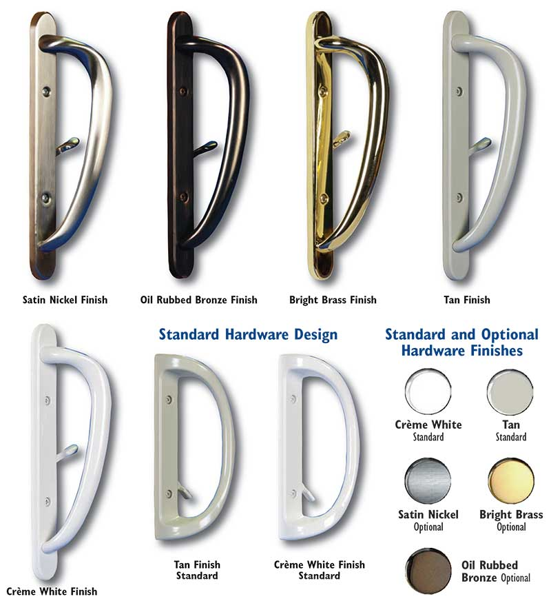 Patio Door Hardware Style, Handle Options