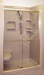 Walk In Shower 4 inch high step-in entry for safety