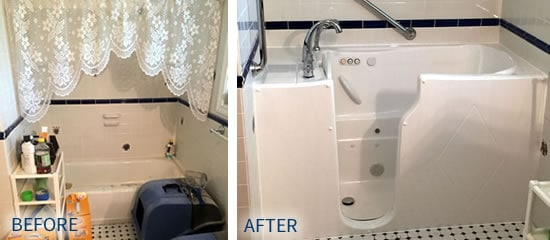 Walk-In Tub Before and After