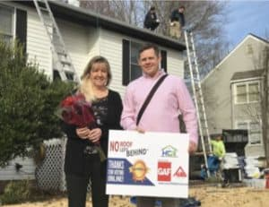 Homefix with New Roof Recipient